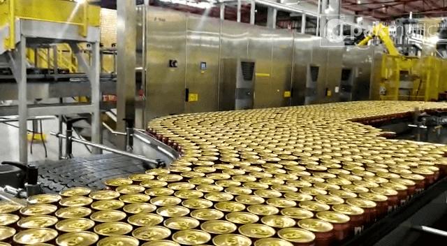 embaladora em fábrica de cerveja - Jaguariúna - sp